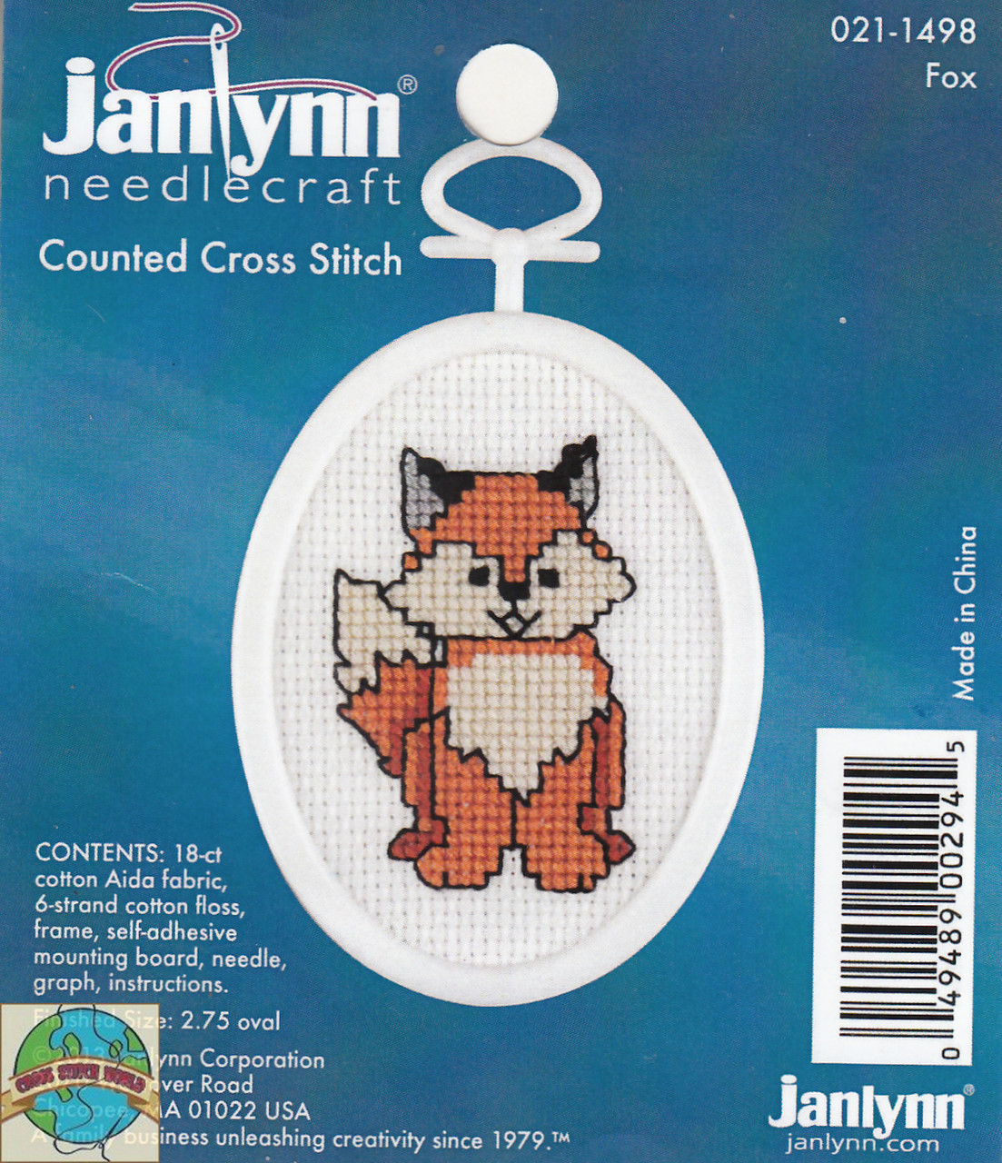 "Janlynn Mini Counted Cross Stitch Kit 2.75/"" Oval-Celestial Santa 18 Count"