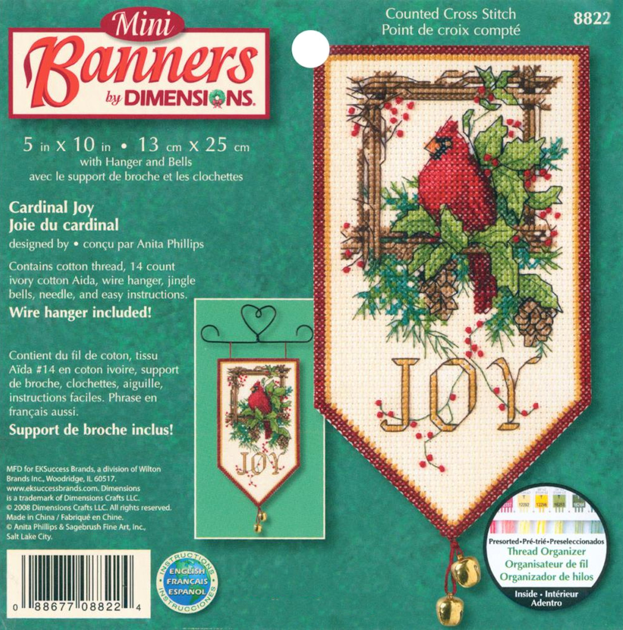 Dimensions - Cardinal Joy Mini Banner