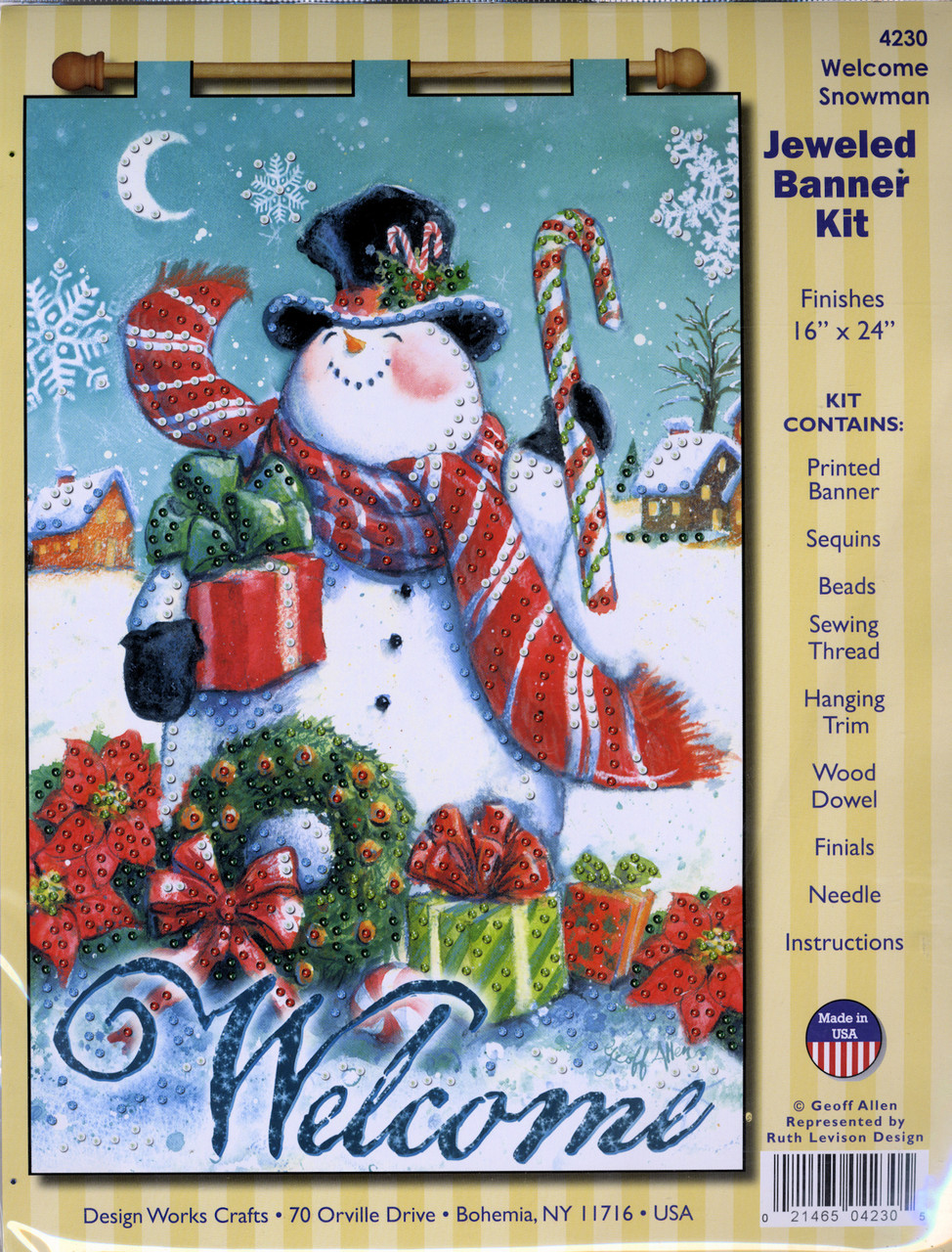Design Works - Welcome Snowman Jeweled Banner