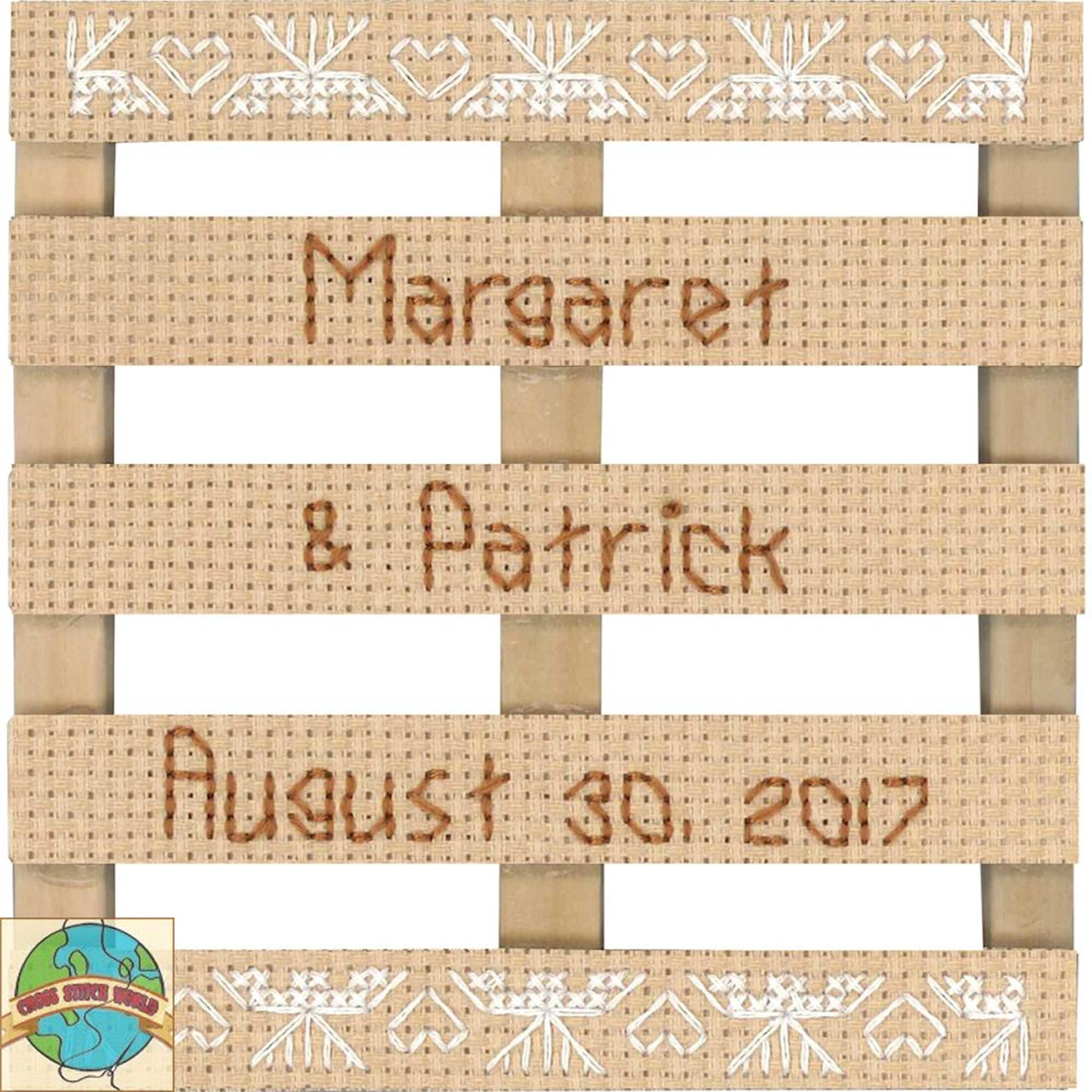 Janlynn - Lace Wedding Announcement Stitch Pallet