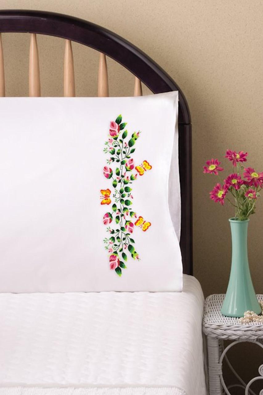 Design Works - Butterflies & Roses Pillowcases (2)