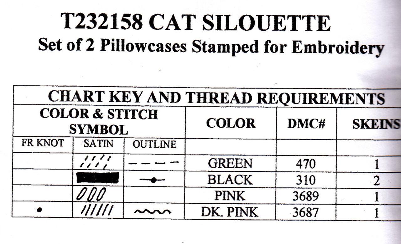 Design Works - Cat Silhouette Pillowcases (2)