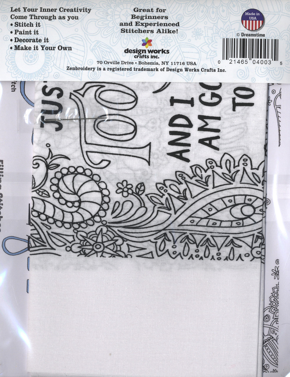 """Design Works - Zenbroidery Be Happy 10"""" x 16"""""""