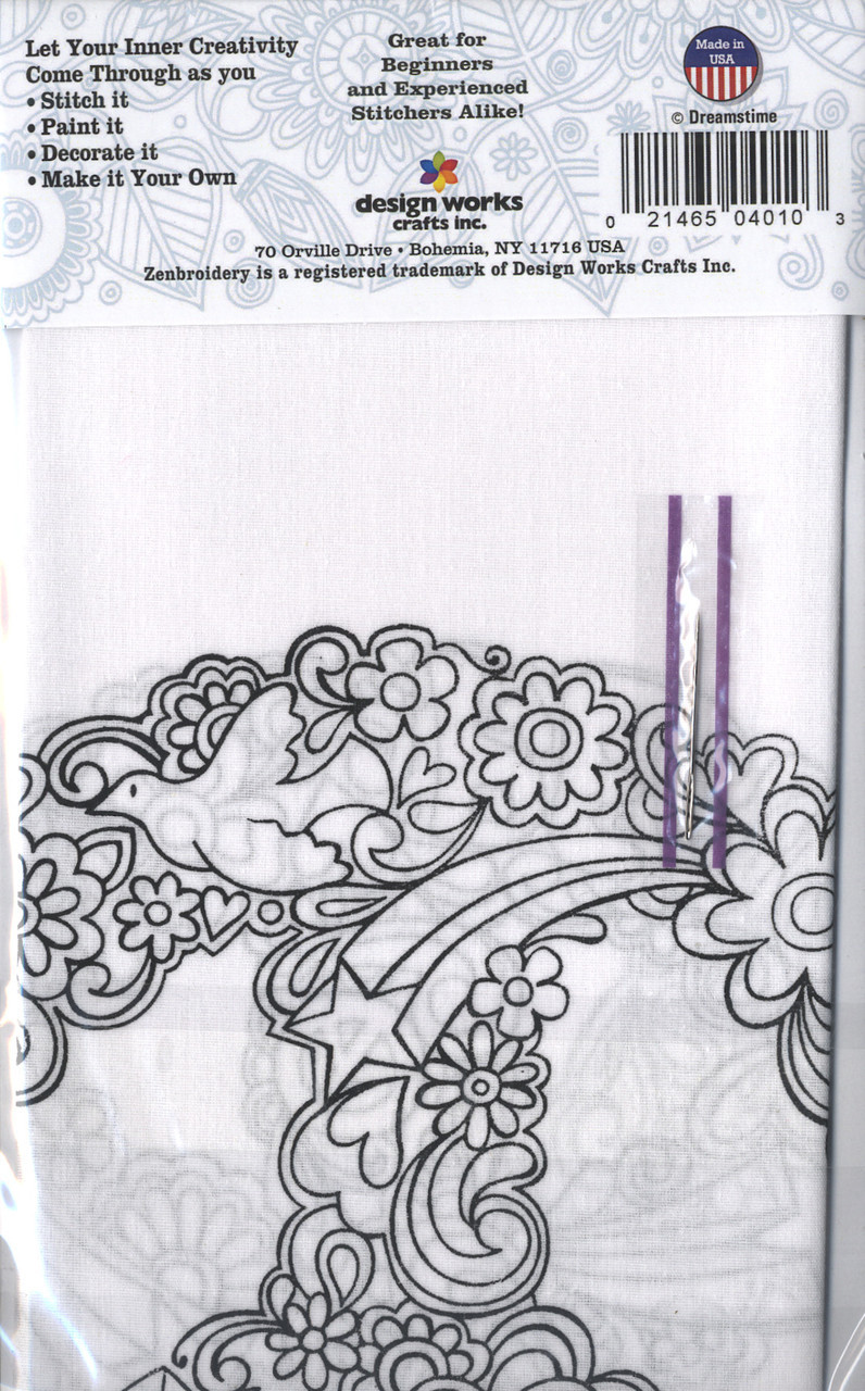 """Design Works - Zenbroidery Peace 10"""" x 10"""""""
