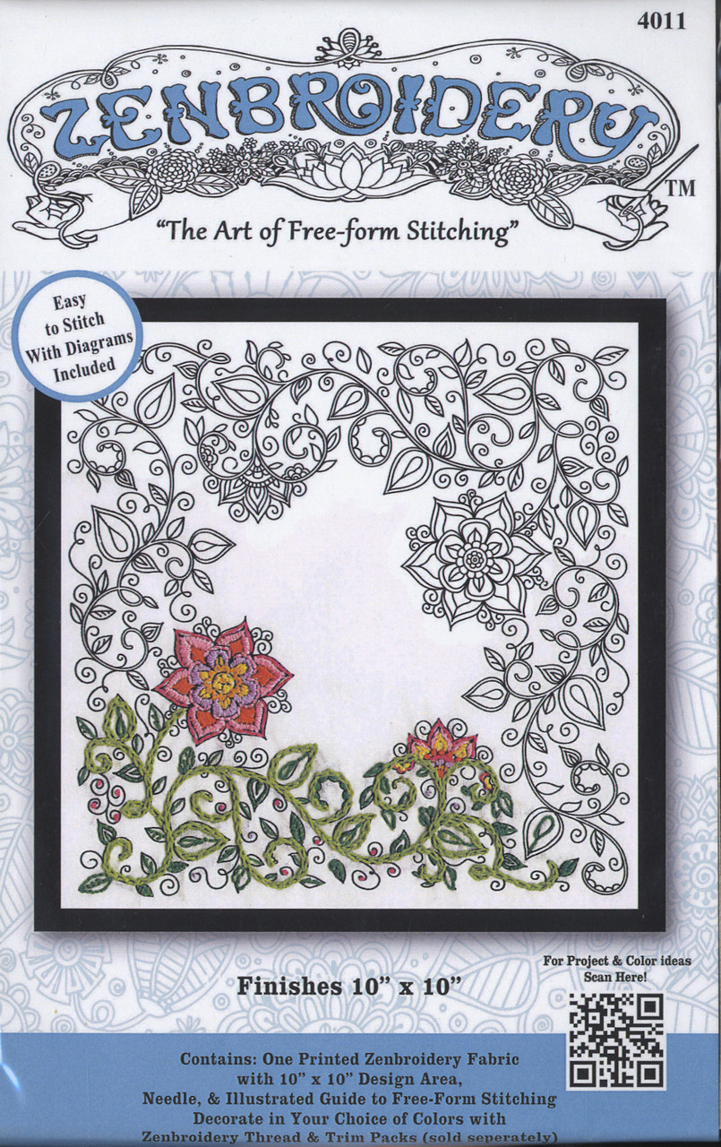 """Design Works - Zenbroidery Garden 10"""" x 10"""""""