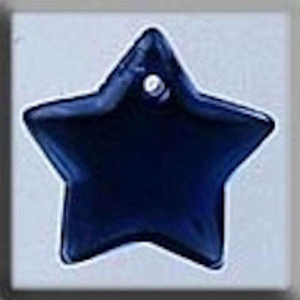 Mill Hill Glass Treasures - Large Flat Star Royal Blue #12176