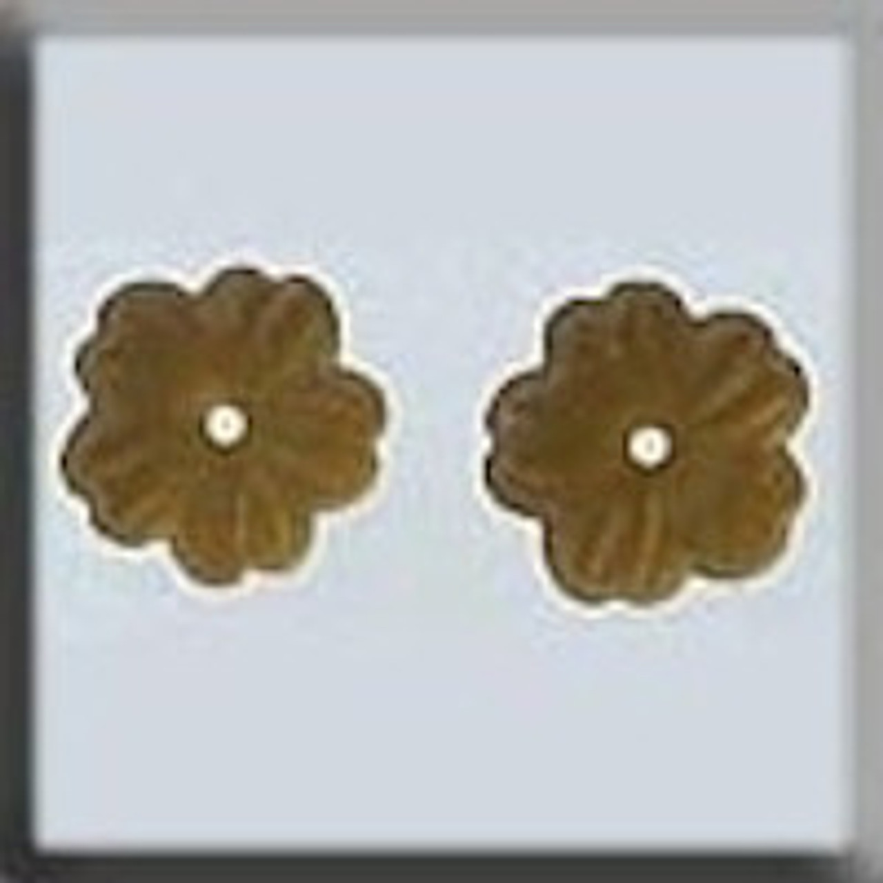 Mill Hill Glass Treasures - Petite Flower Matte Light Topaz #12210