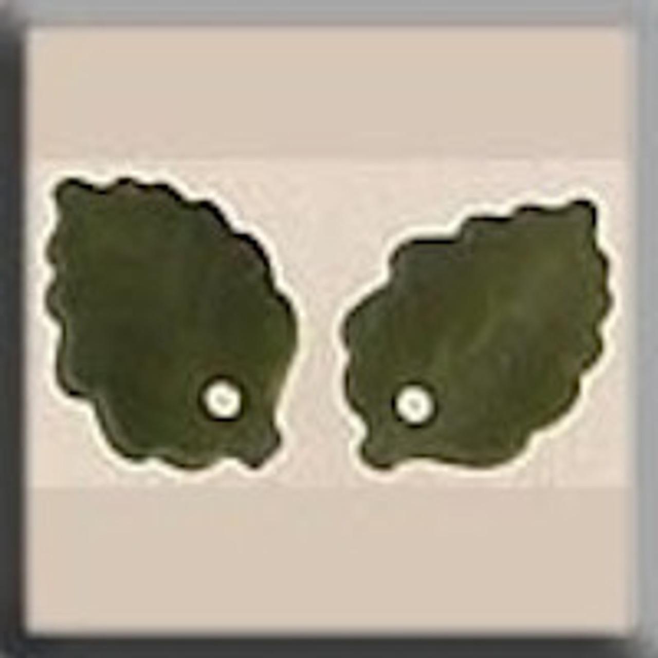 Mill Hill Glass Treasures - Medium Leaf Matte Olive #12144