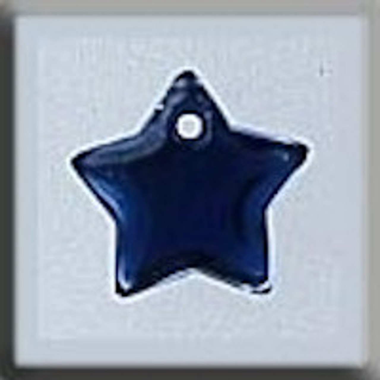 Mill Hill Glass Treasures - Small Flat Star Royal Blue #12173
