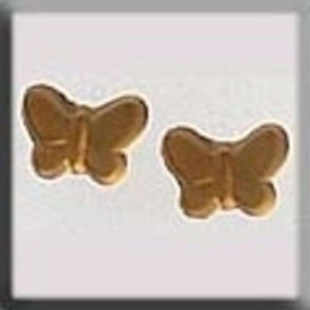 Mill Hill Glass Treasures - Butterfly Matte Light Topaz