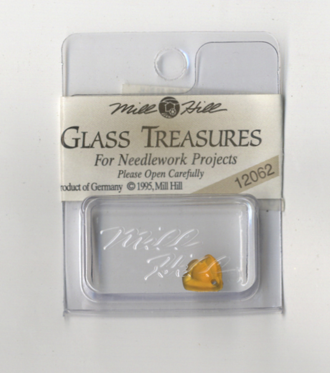 Mill Hill Glass Treasures - Flat Bell Flower Light Topaz #12062