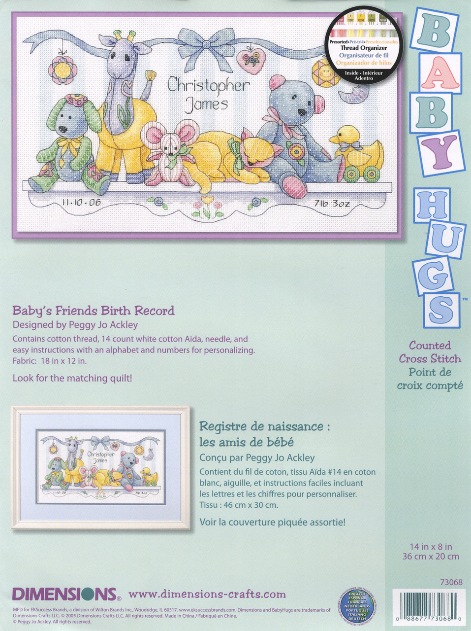 Dimenions Baby Hugs - Baby's Friends Birth Record