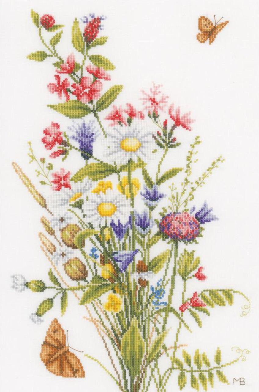 lanarte - marjolein bastin field flowers - crossstitchworld
