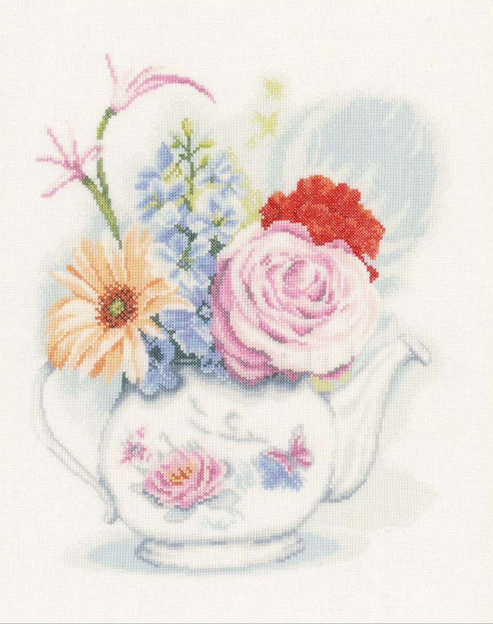 LanArte - Flowers In Teapot