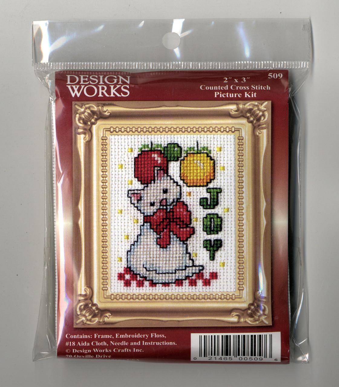 Design Works -  Joy Cat Picture Kit w/Frame