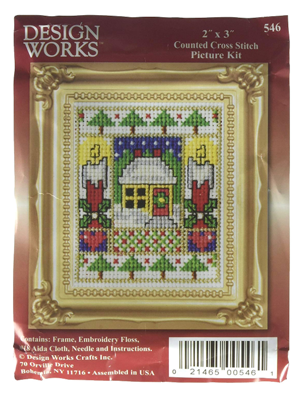 Design Works -  Candles Picture Kit w/Frame