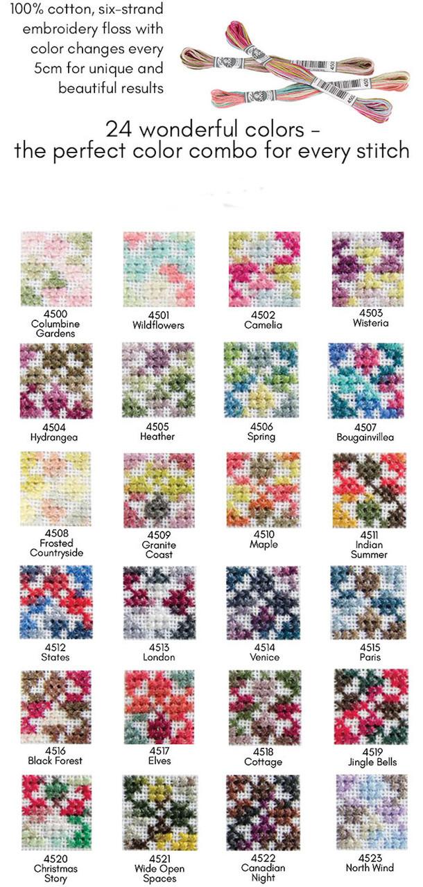DMC Coloris Floss #4501 - Wildflowers