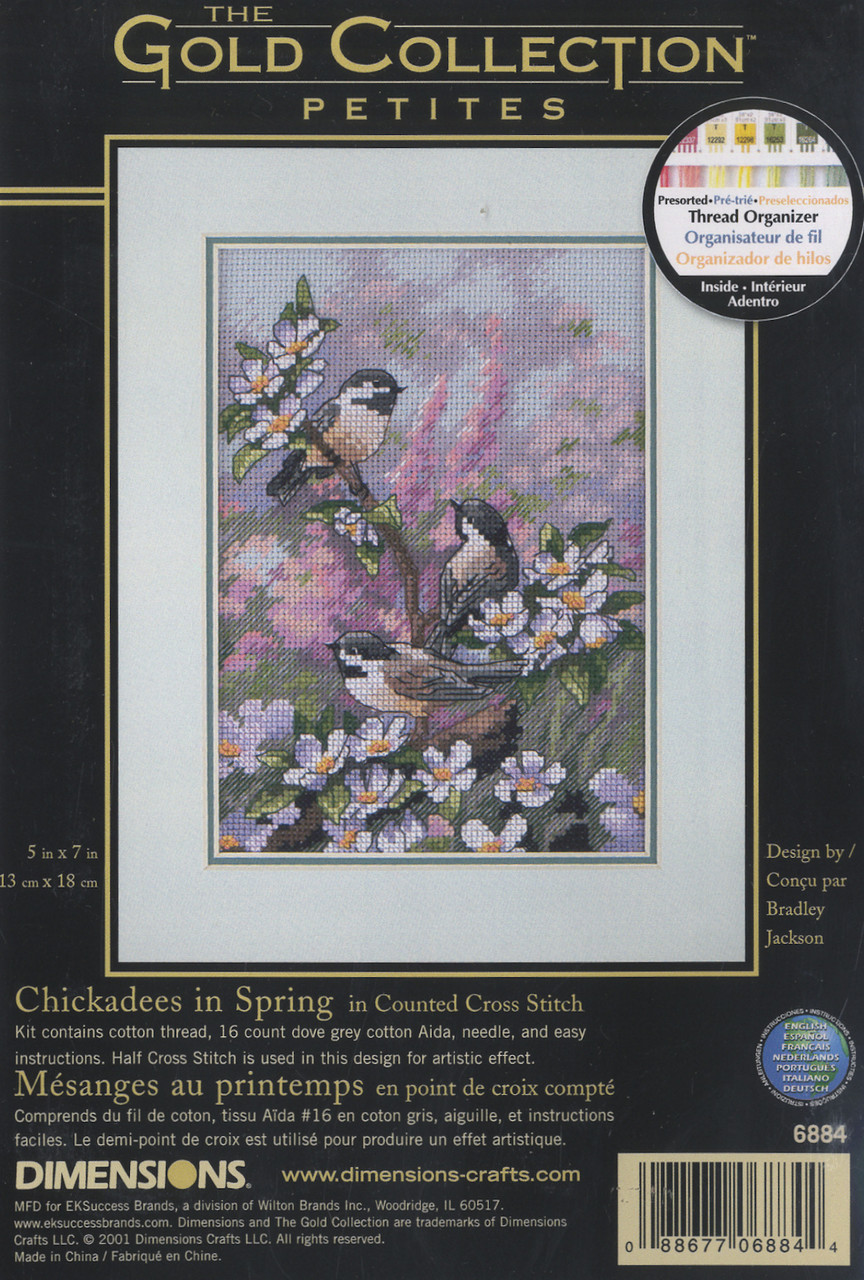 Gold Collection Petites - Chickadees in Spring
