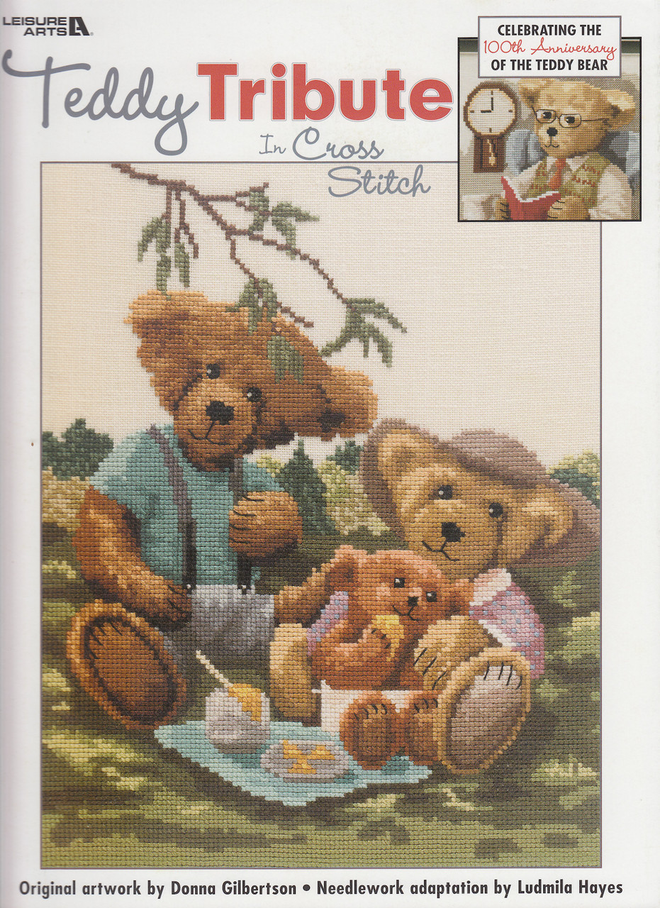Leisure Arts - Teddy Tribute in Cross Stitch