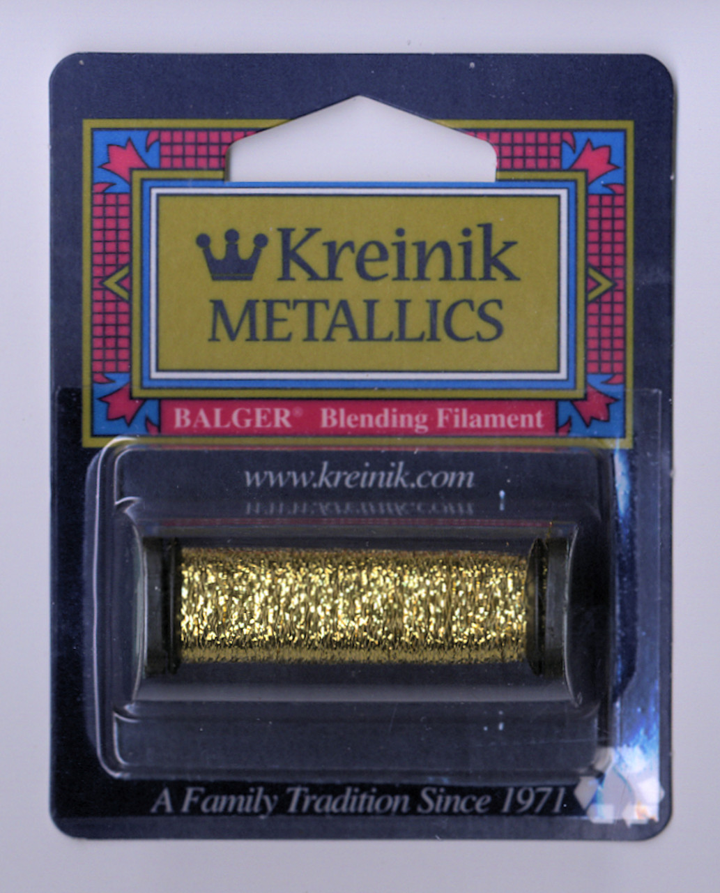 Kreinik Metallics Blending Filament - Gold (Hi Lustre) #002HL