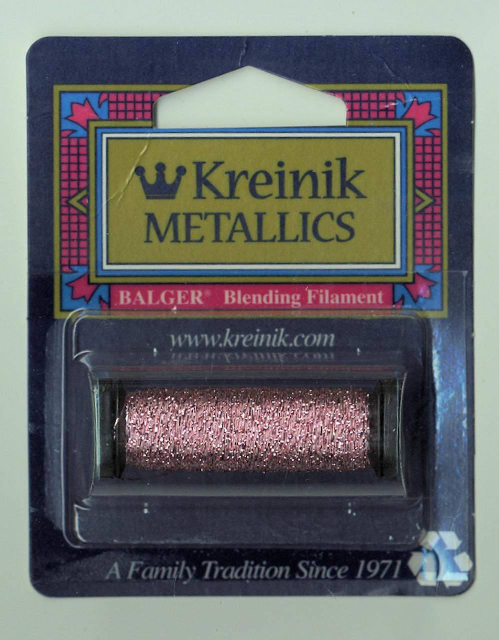 Kreinik Metallics Blending Filament - Pink 007