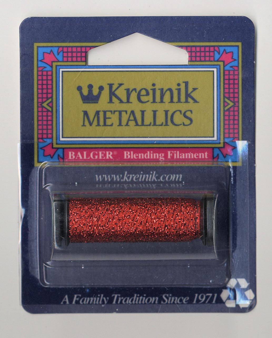 Kreinik Metallics Blending Filament - Red #003