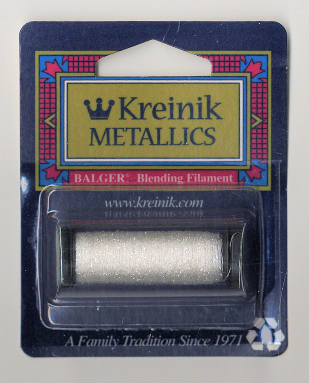Kreinik Metallics Blending Filament - White #100