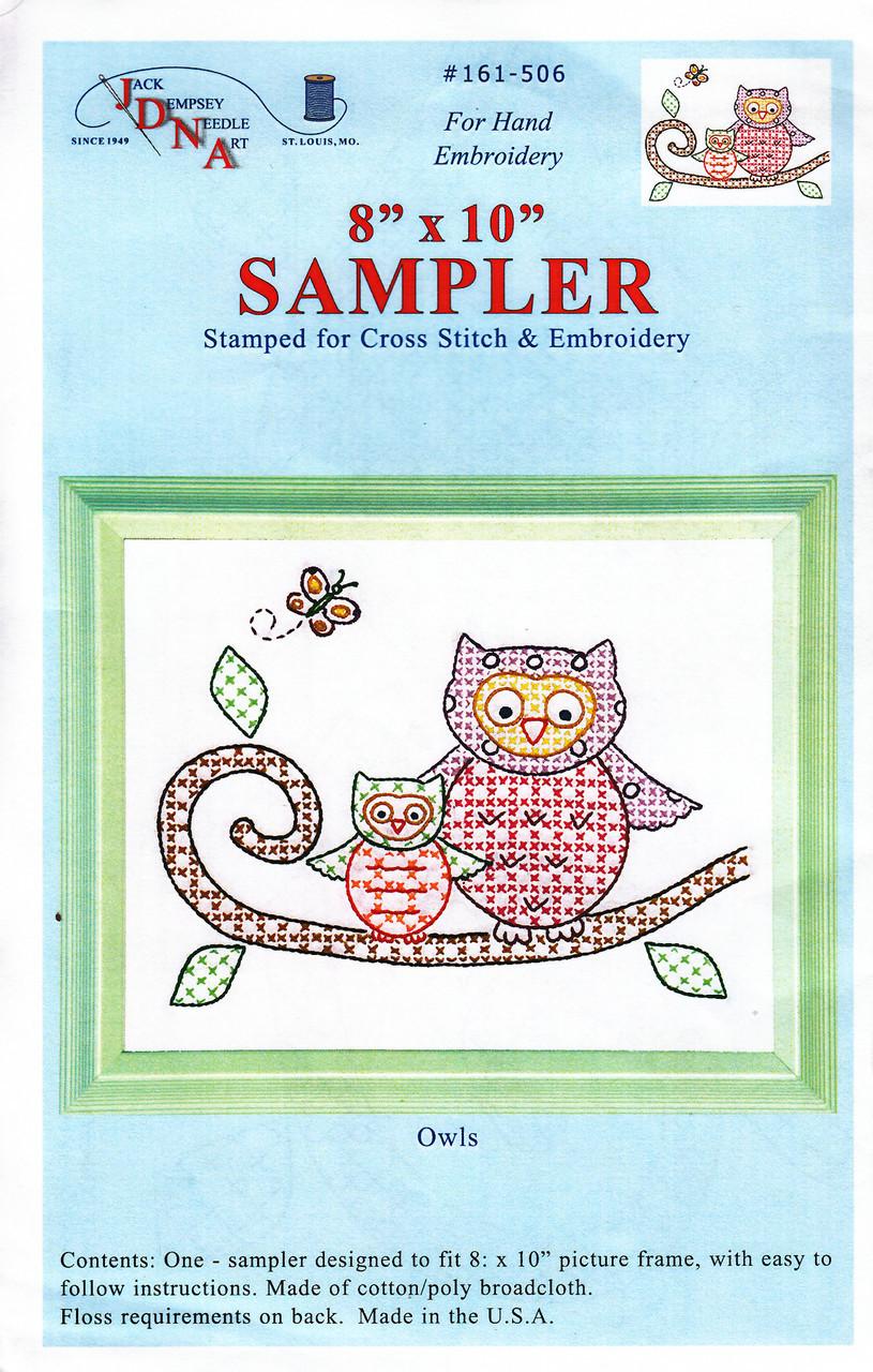 Jack Dempsey Needle Art - Owls Sampler