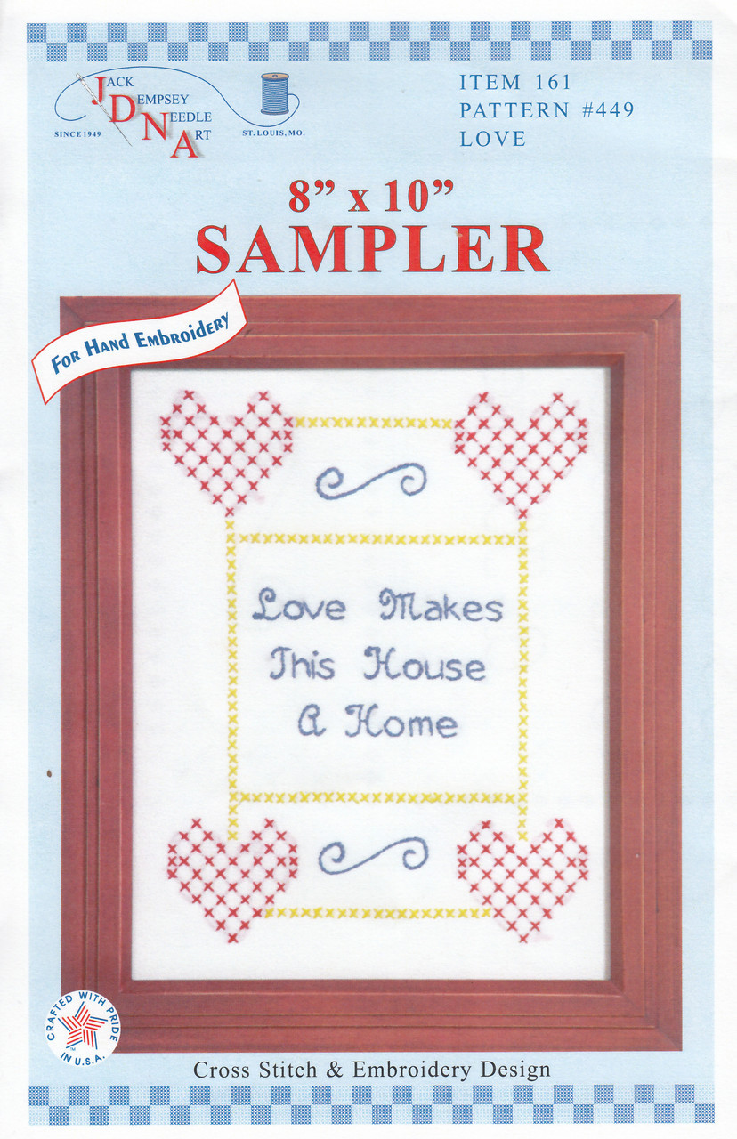 Jack Dempsey Needle Art - Love Sampler