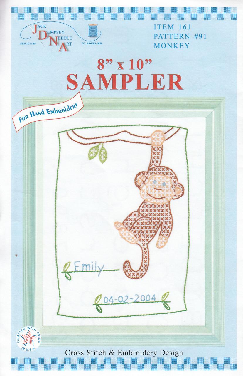 Jack Dempsey Needle Art - Monkey Sampler