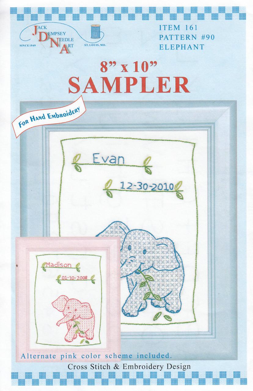 Jack Dempsey Needle Art - Elephant Sampler