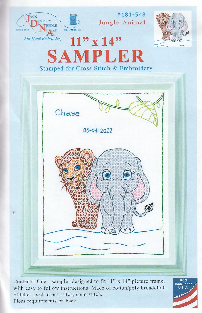 Jack Dempsey Needle Art - Jungle Animal Sampler