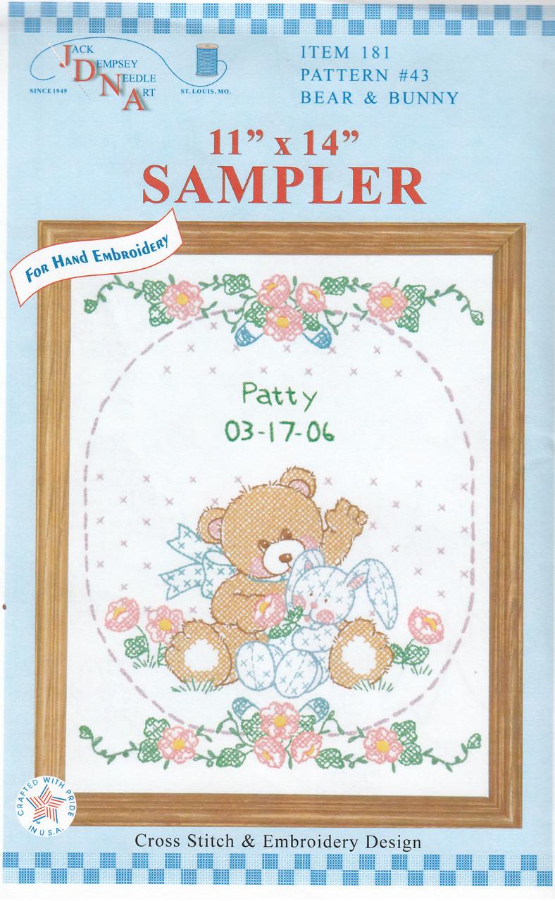 Jack Dempsey Needle Art - Bear & Bunny Sampler