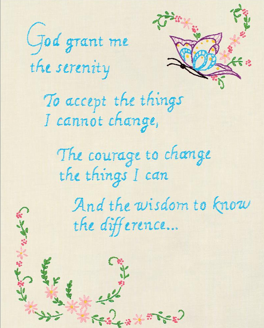 Jack Dempsey Needle Art - Serenity Prayer Sampler