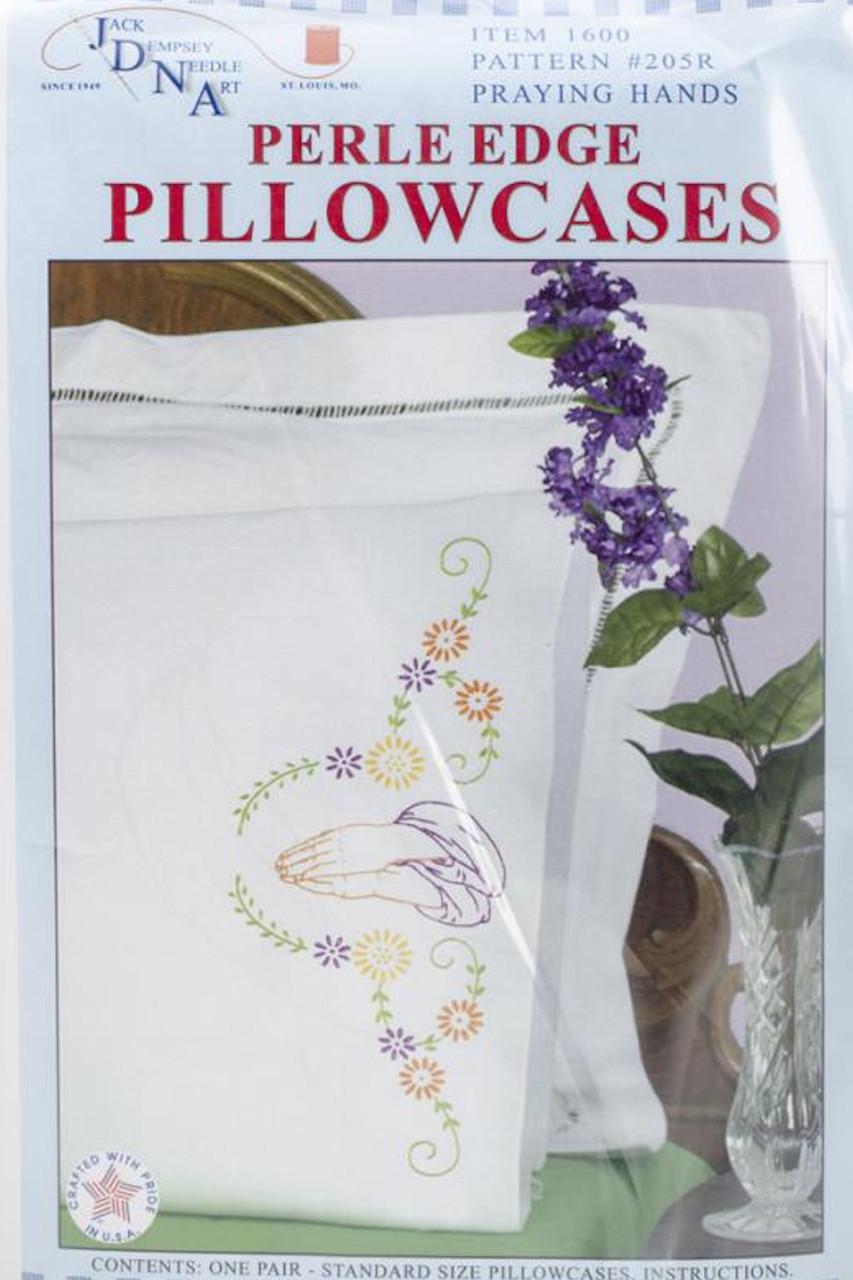 Jack Dempsey Needle Art - Praying Hands Pillowcase Set (2)