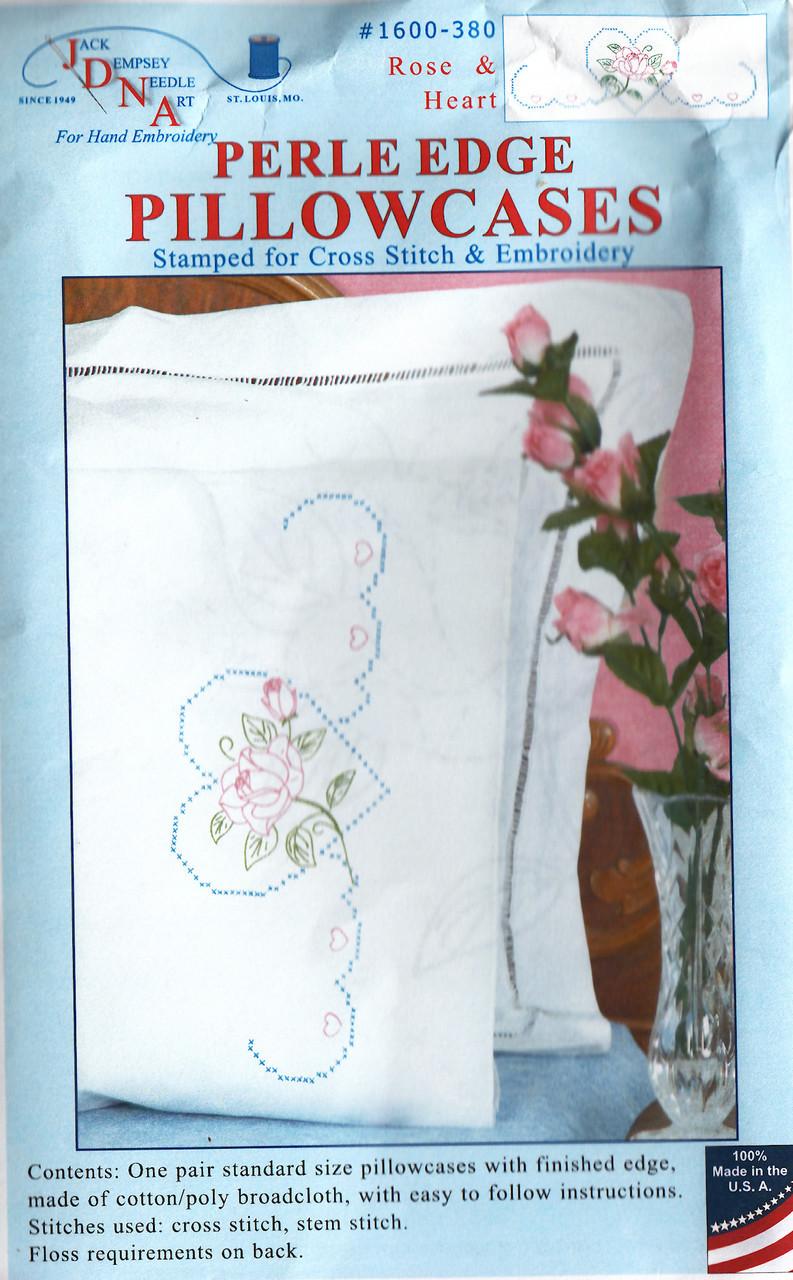 Jack Dempsey Stamped Pillowcases W//White Perle Edge 2//Pkg-Birds