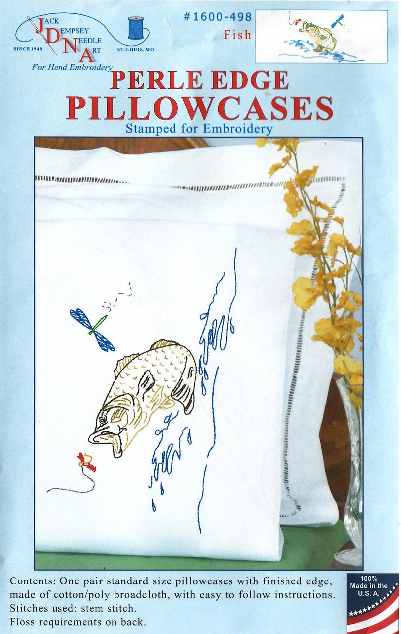 Jack Dempsey Needle Art - Fish Pillowcase Set (2)