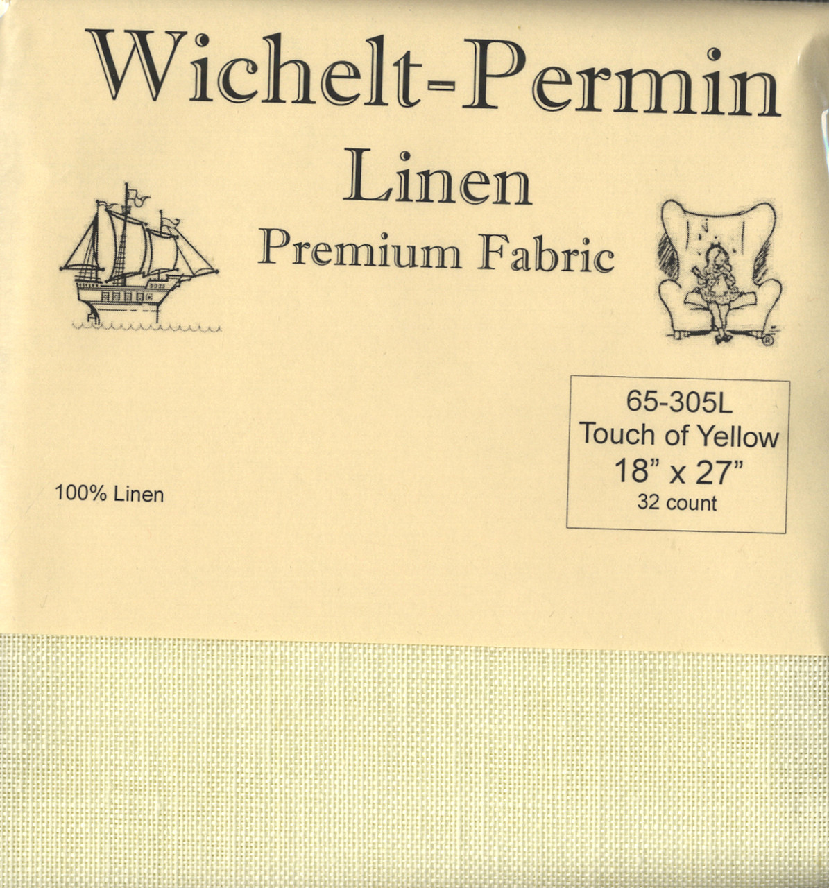 Wichelt - 32 Ct Touch of Yellow Linen 18 x 27 in