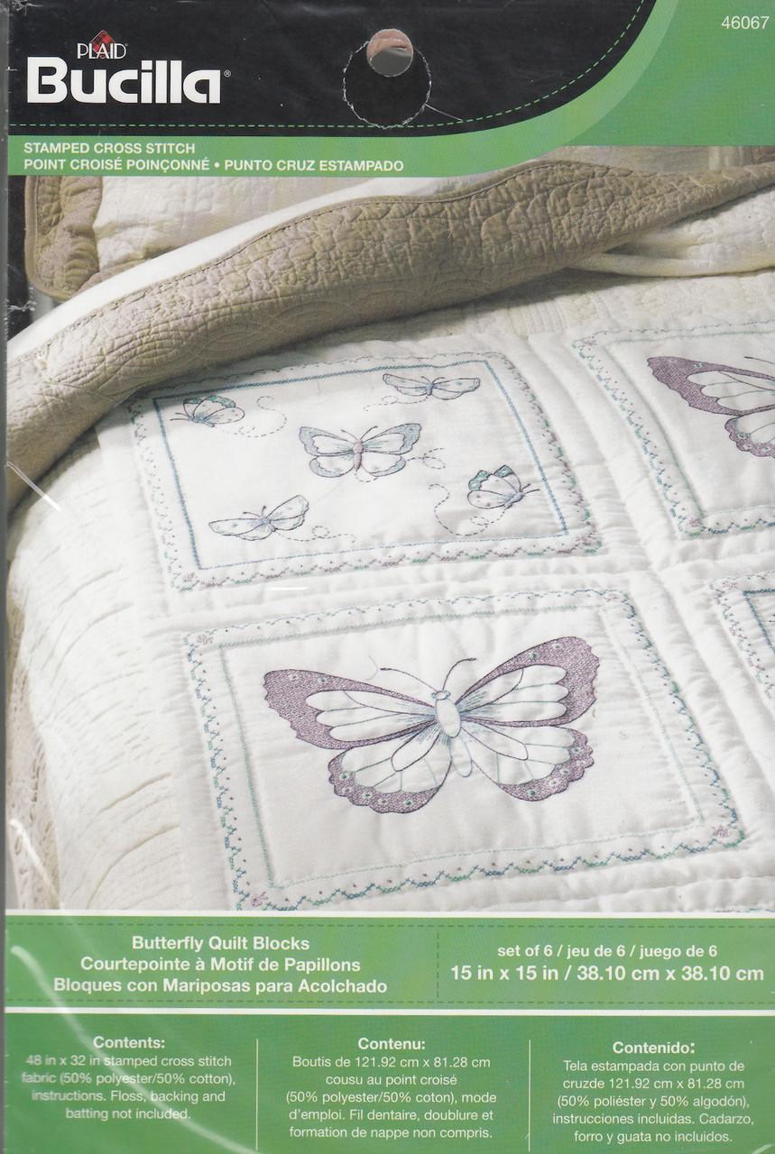 Plaid / Bucilla - Butterfly Quilt Blocks (6)