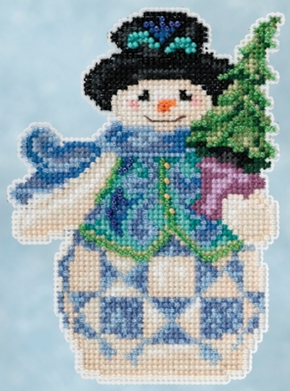 Mill Hill 2015 Jim Shore Winter Series - Evergreen Snowman