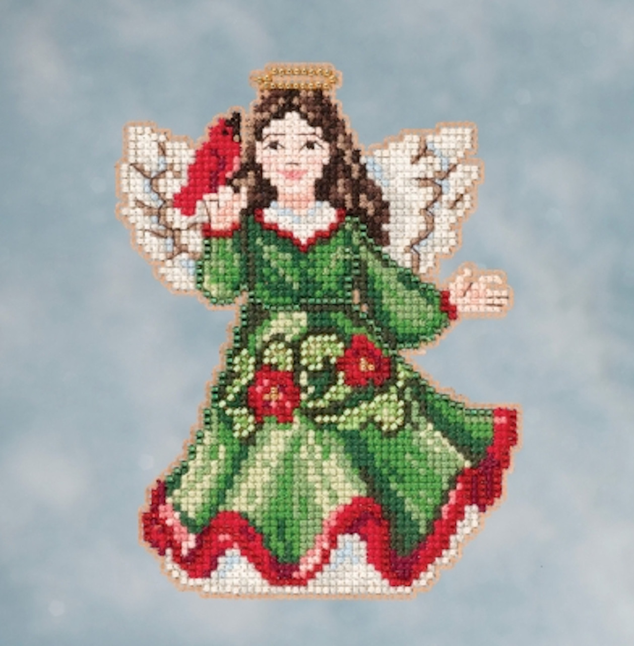 Angel with Lantern Cross Stitch Kit Mill Hill 2016 Jim Shore JS201612
