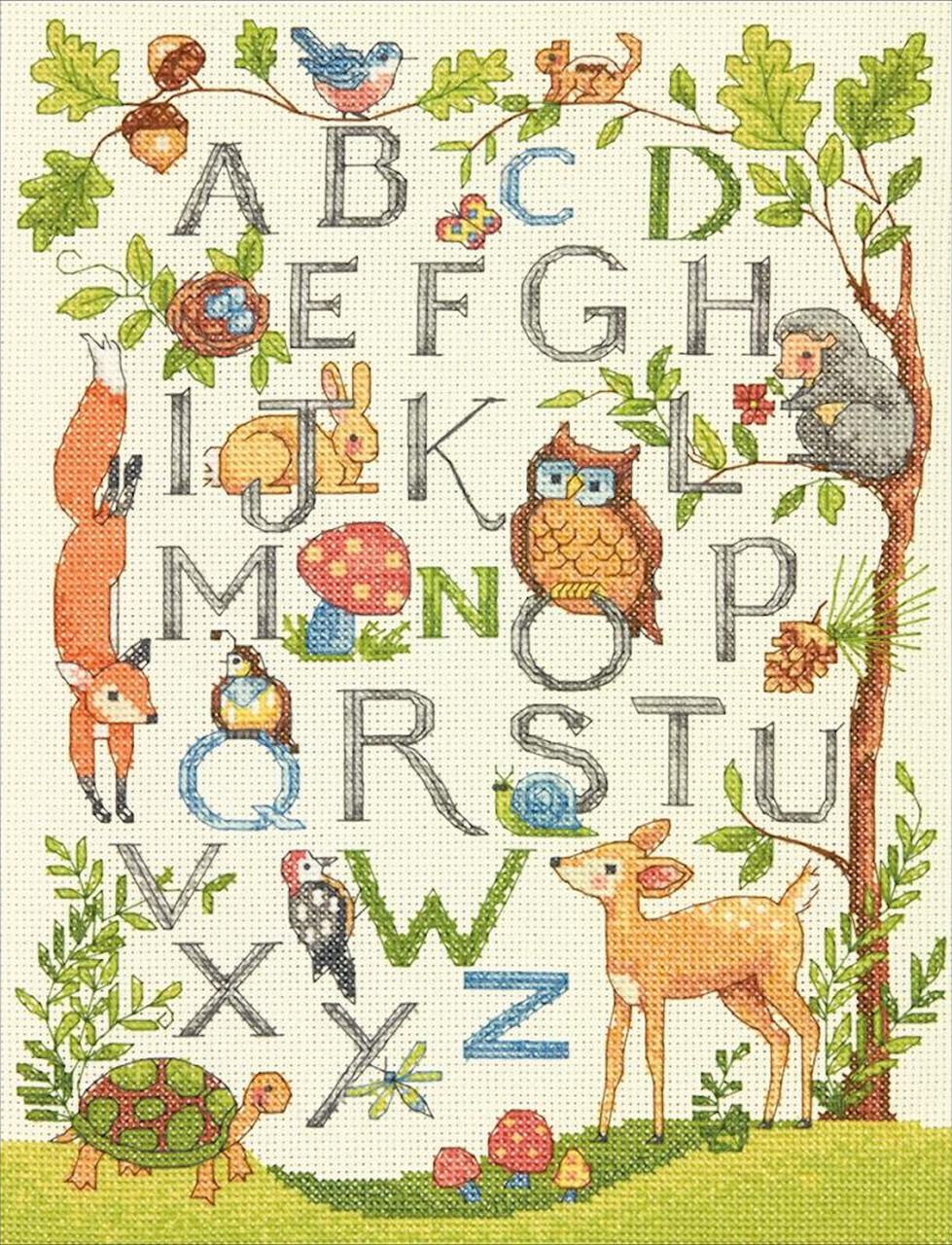 Dimensions - Woodland Alphabet