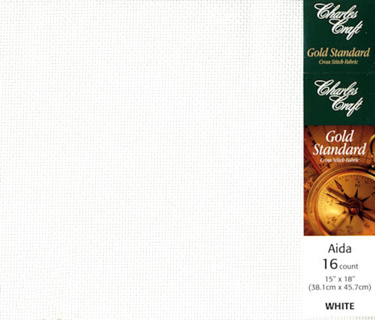 Charles Craft - 16 Ct White Aida Fabric 15 x 18 in