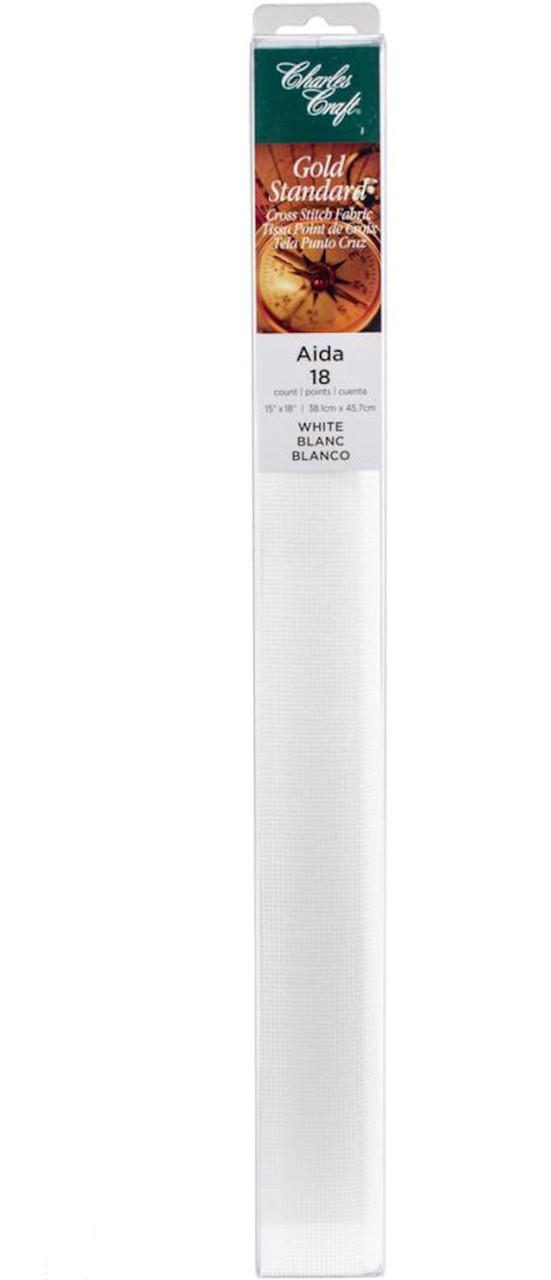 Charles Craft - 18 Ct White Aida Fabric 15 x 18 in