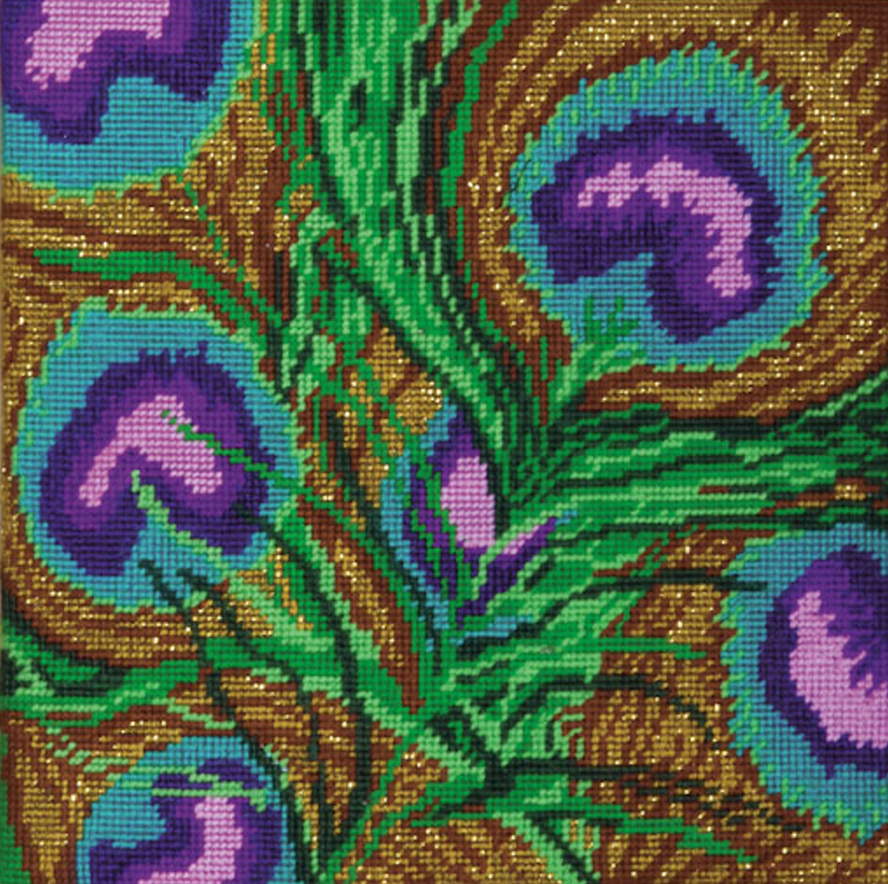 """Design Works Needlepoint Kit 10/""""X10/""""-Paisley-Stitched In Yarn"""