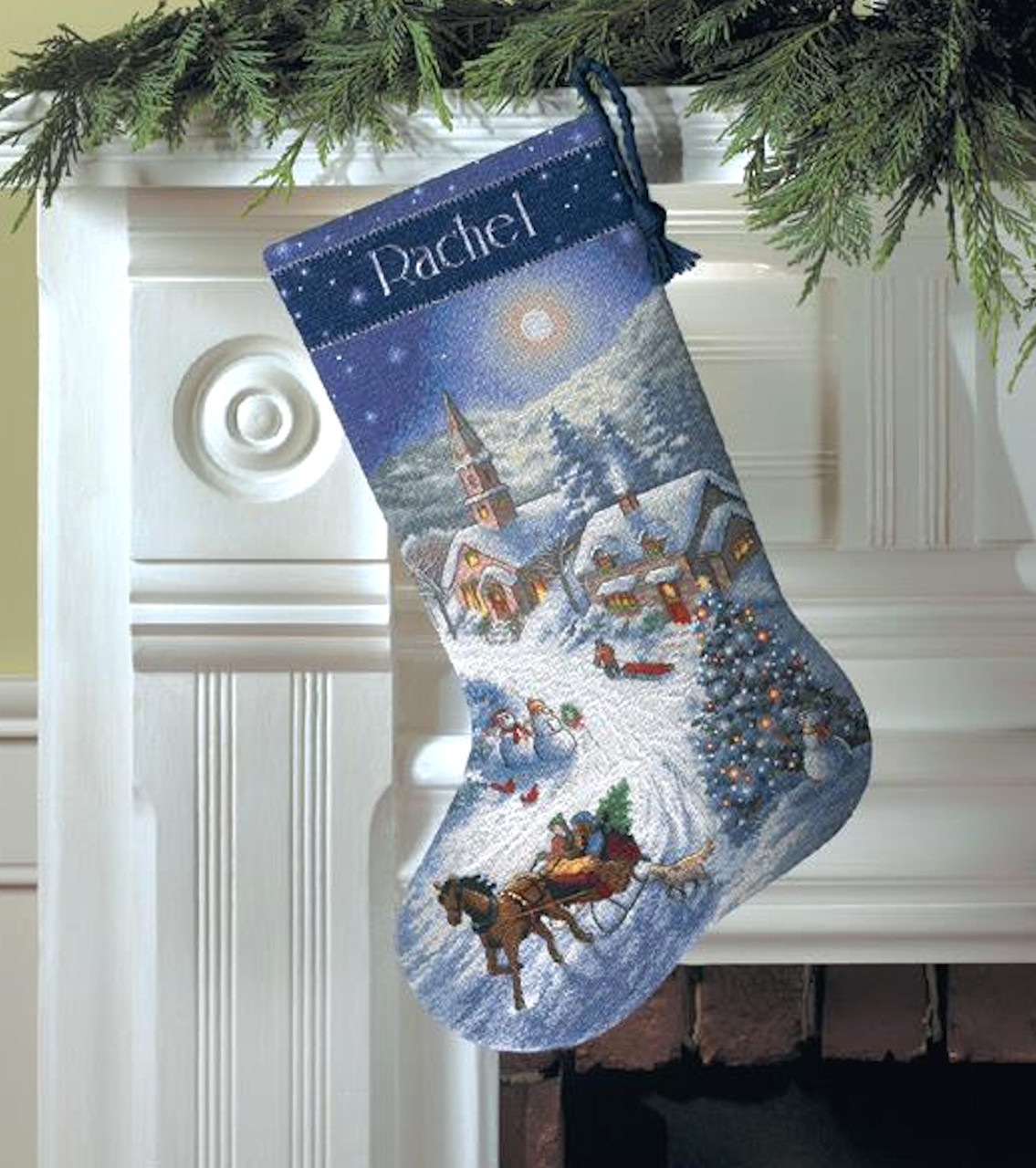 Gold Collection - Sleigh Ride At Dusk Stocking