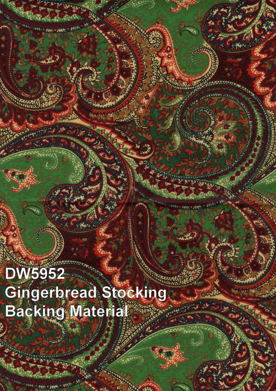 Backing Fabric (Used to finish the back of the stocking.)