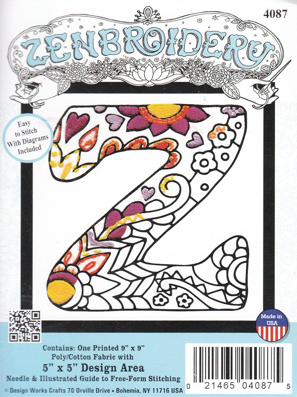 Design Works - Zenbroidery Alphabet Letters