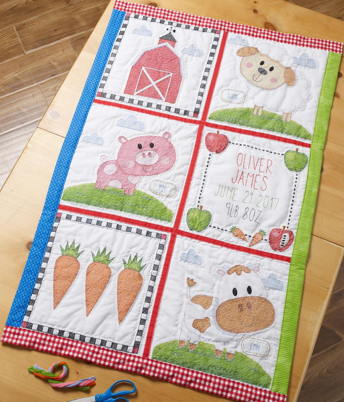 Plaid / Bucilla - Farm Animal Quilt Blocks (6)
