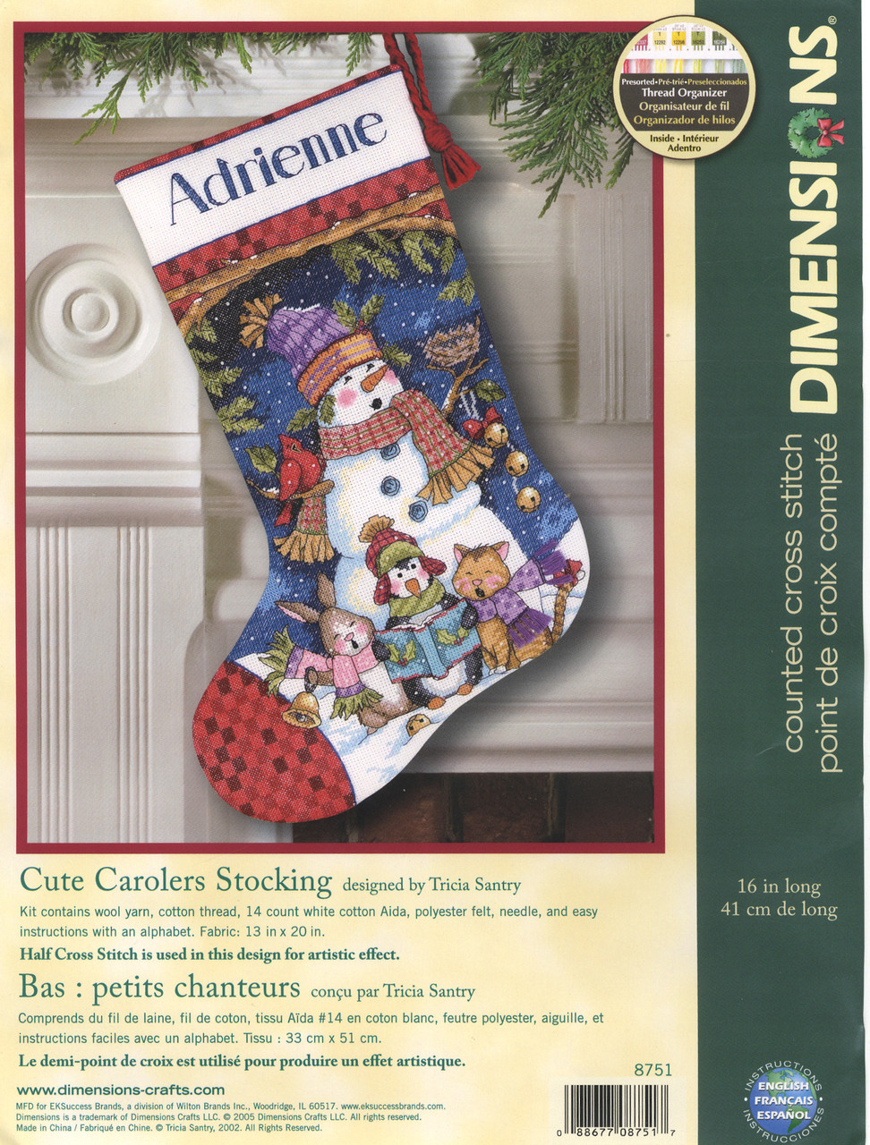Dimensions - Cute Carolers Stocking